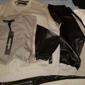 Hudson sweatsuit L shirt, sweater,  pants